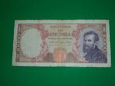 AUTENTICA 100% Banconota da 10.000 lire Michelangelo Repubblica Italiana