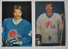 lot of 2 QUEBEC NORDIQUES NHL Hockey Postcards Pierre Lacroix, Garry Lariviere °