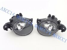 Pair Clear Lens Fog Lamps Kit Driving W/ Bulb Lights For Nissan Versa 2012-2014