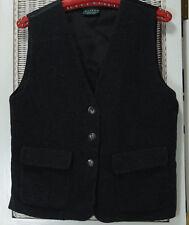 CHARLOTTE HALTON RIVER ISLAND Vtg Waistcoat UK10 EU38 Charcoal Grey Flannel Vest