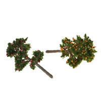 1/12 Puppenhaus Miniatur Apfelbaum Orangenbaum für Gartendekoration