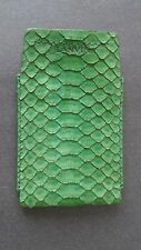 LANVIN Green Snake Skin Credit Card Business Card Case Small Wallet Slip Case