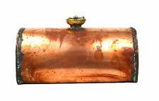Antico Vittoriano RAME bottiglia di acqua calda scalda letto piedi