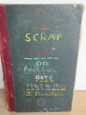VINTAGE 1947 FOOTBALL SCRAPBOOK 90 PAGES SPURS ARSENAL LIVERPOOL MAN UTD CITY