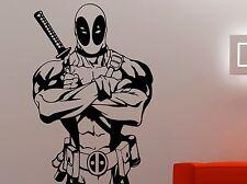Deadpool Wall Sticker Marvel Comics Vinyl Decal Superhero Art Room Decor 3dzz