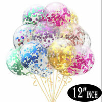 """15 Pack Confetti Balloons Latex 12"""" Decorations Helium Birthday Party Wedding"""