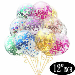 "15 Pack Confetti Balloons Latex 12"" Decorations Helium Birthday Party Wedding"