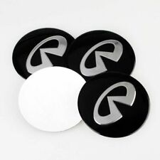 4pcs 55mm Black Car Wheel Center Hub Caps Emblem Badge Sticker For Infiniti
