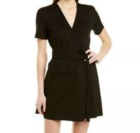 NWT Joie Goldwin Wrap Dress Women's Black Size S