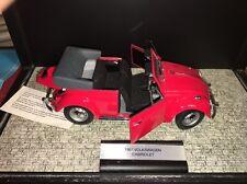 FRANKLIN MINT DIECAST CAR MODEL 1967 VW VOLKSWAGON CABRIOLET BEETLE RED