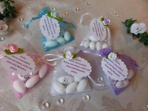 Gastgeschenke mit Mandeln Hochzeit Kommunion Konfirmation Taufe Mandelspruch