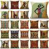 "Cartoon Fashion African Woman Lady Cushion Covers Linen Pillow Case 18"" Throw"