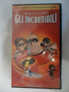 GLI INCREDIBILI videocassetta  WALT DISNEY PIXAR- VHS cartoni animati