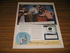 1945 Print Ad Westinghouse Laundromat Automatic Washers & Clothers Dryers