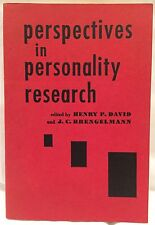 """Perspectives in Personality Research : Henry David & J.C. Brengelmann """"60 1ST ED"""