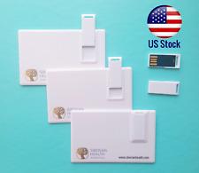 Lot of 3pcs 8GB Flash Card USB 2.0 - Credit Card Size Pen Drive Memory Stick