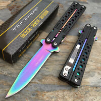 TAC-FORCE Assist Open Rainbow Liner Hunting Survival Camping Rescue Pocket Knife