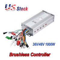 New 36V/48V 1000W 38A E-bike Vehicle Scooter Brushless Motor Speed Controller US