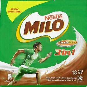 Nestlé Milo Activ-Go 3 In 1 Chocolate Malt Drink 18 Stick Packs x 33g