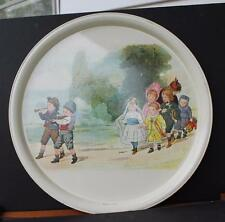 """NOS Massilly France Children Parade 13"""" rounded metal tray"""