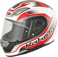 Kabuto Aeroblade III Torrent Street Motorcycle Helmet White Red X-Large