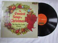 John McCarthy Chorale,The Greatest Songs of Christmas,Vinyl Lp.  RCA