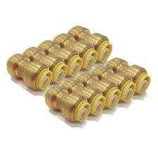 (Pack of 10) 1/2 inch x 1/2 inch SharkBite Style, Coupling Fittings, Lead Free