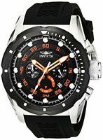 Invicta Mens Speedway Stainless Steel Watch W/ Black Band