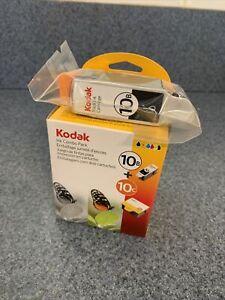 New Genuine Kodak (2)10B Black & (1)10C Color Ink printer Cartridge Set Sealed+