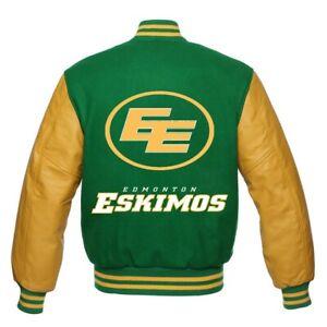 Edmonton Eskimos CFL Varsity Jacket all sizes
