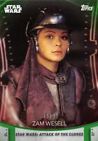 Women of Star Wars (2020) GREEN PARALLEL BASE Card #99 - ZAM WESELL 19/99