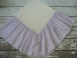 POTTERY BARN KIDS Solid Purple Bedskirt Twin Size Cotton Lavender