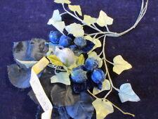 """Vtg Millinery Flower Collection Blue Velvet 3/4-1"""" German Slightly Shabby H2421"""