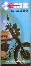 1983 Reklame WERBUNG  Prospekt DDR IFA MZ ETZ 250 Seitenwagen TS 125 150 Gelände