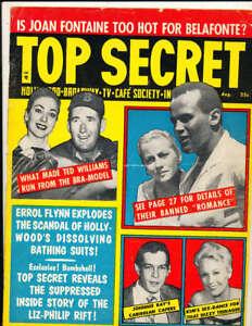 1957 Top Secret magazine Ted Williams Red Sox rare