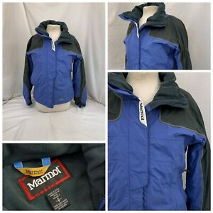 Marmot Ski Coat Jacket S Women Blue Nylon Full Zip EUC YGI T1-300