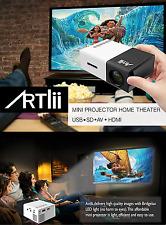 Mini projector, ARTLII 1080P Portable LED Pocket Projector Multimedia Home