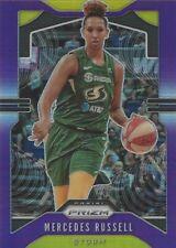 2020 WNBA PANINI PRIZM * MERCEDES RUSSELL * PURPLE PRIZM PARALLEL CARD 088/125