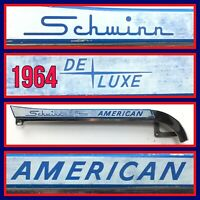 "1964 Schwinn Deluxe AMERICAN Bicycle CHAINGUARD  26"" Tire Bike Part Chain Guard"