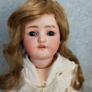 "22"" antique bisque head & composition German Simon & Halbig Doll mold 550"