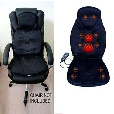 Massage Chair Pad Electric Seat With Heat Office Car Cushion Back Neck Vibration