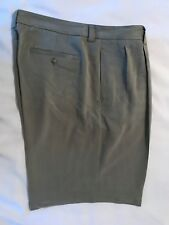 TOMMY BAHAMA Mens Silk Pleated Shorts-Lt. Green-Size 38-EUC