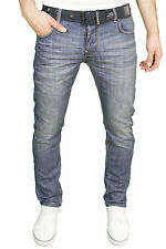 Mens Crosshatch Straight Leg Dark Blue Jeans All Waist Sizes Jeanbase Nw1 Stone Wash Techno 46w 30l