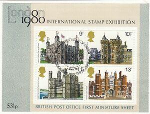 (65875) GB Used Histroric Royal Palaces minisheet 1978 ON PIECE