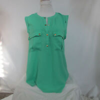 Love 21 Women's Green Shirt blouse sz Small Dressy