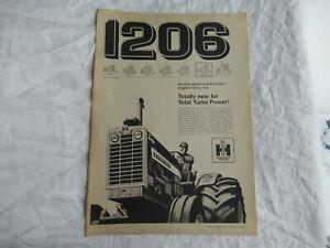 1966 International Farmall 1206 tractor print ad poster