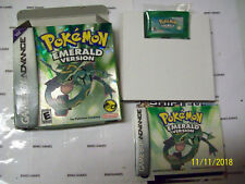 Nintendo Pokemon Emerald Version Game  Authentic  WITH NEW SAVE BATTERY COMPLETE