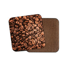 Coffee Beans Cork Backed Drinks Coaster - Bean Dad Brother Office Cool  #8120