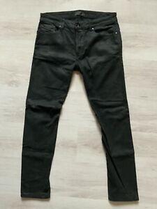 Diesel Black Gold Herren Gr. 31 (M) Knopf Skinny-Fit Jeans schwarz * Typ 241