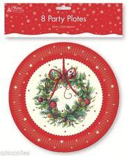 Decorazioni natalizie piatto per la tavola